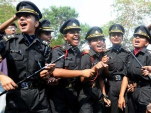How can a girl join the Defence Services mainly in Indian Army?