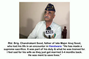 Some Inspiring Facts About Major Anuj Sood
